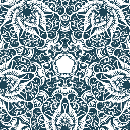 A square pattern, ornamental texture, monochromatic vector illustration