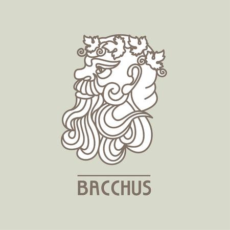 Bacchus. The God of wine. Vector logo. Illustration