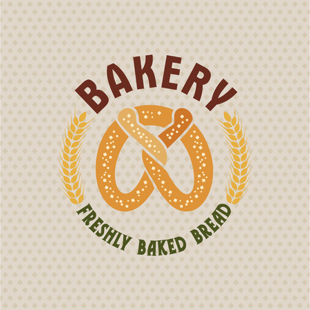 the miller: Bakery vector retro logo with nice bread .