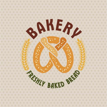 Bakery vector retro logo with nice bread .