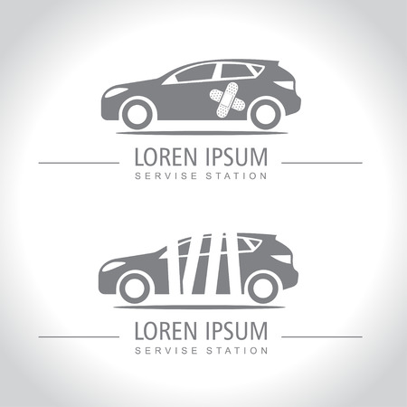 repairing: Car service and Repairing icons Illustration