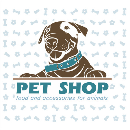 Dog, vector logo, pet products 2