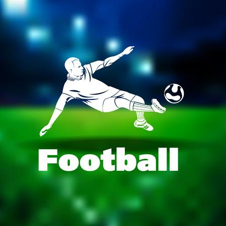 フットボール選手。ベクトルの図。