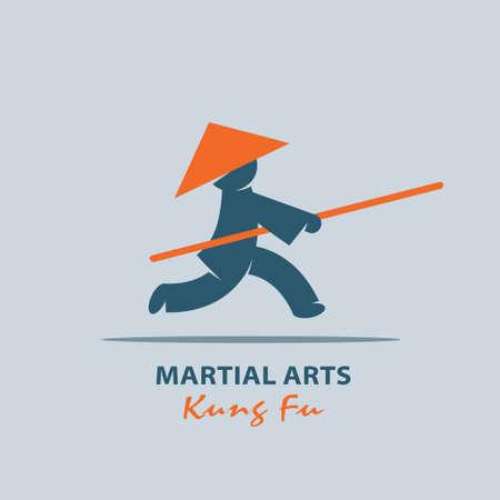 jab: Kung fu. Martial arts of the East. Vector logo.