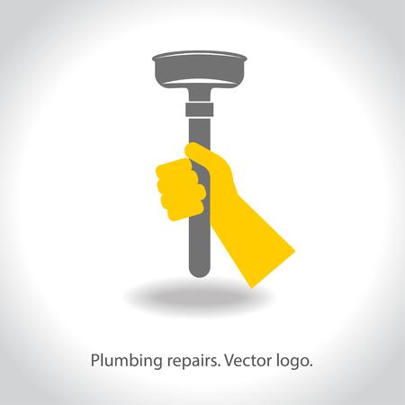 repairs: Plumbing repairs. Vector Illustration