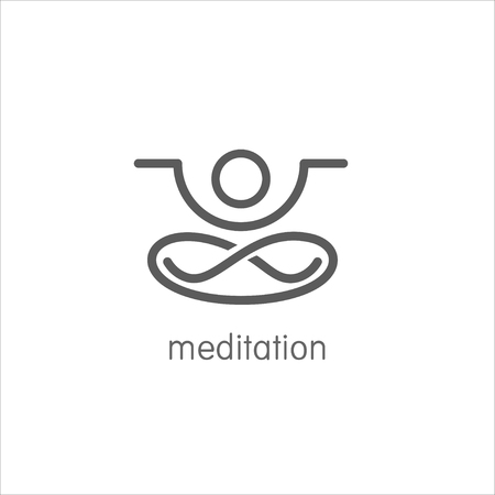 yoga meditation: Yoga meditation icon