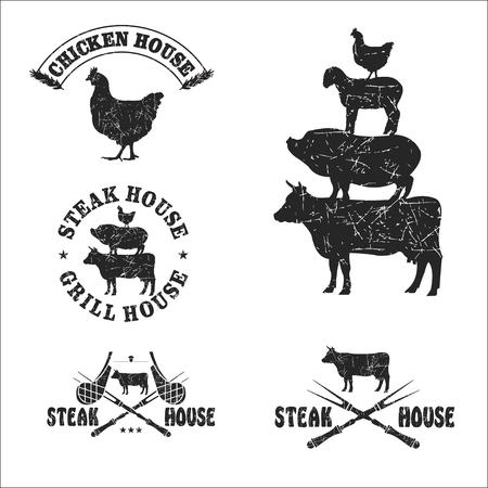Set grill restaurant steak house. Фото со стока - 63201292