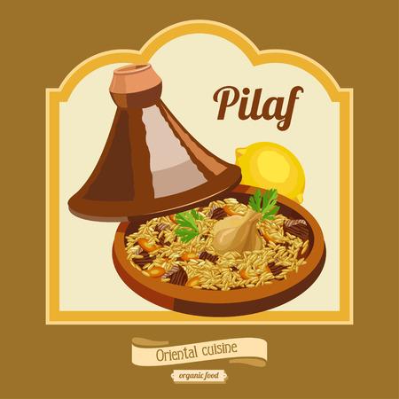 Cuisine Pilaf Tagine Oriental Banque d'images - 63201295