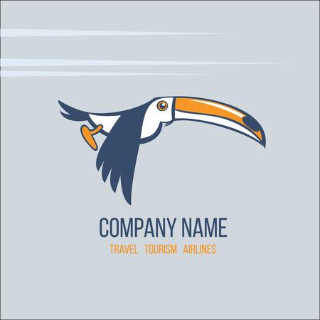 Toucan icon illustration