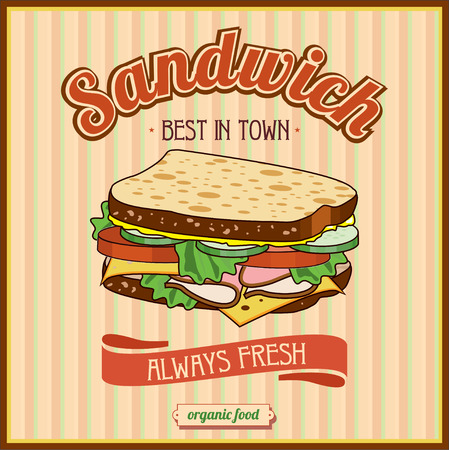 panini: Vintage Sandwiches Poster