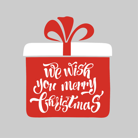 We wish a merry Christmas. Merry Christmas Lettering Design.