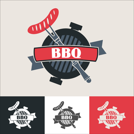 Barbecue.  barbecue. Vector illustration of a barbecue. Barbeque grill and grill the sausage. Illustration