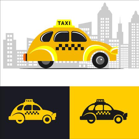 Taxi del coche Ilustración de vector