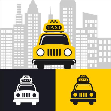 taxista: Taxi del coche Vectores
