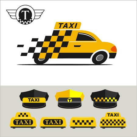 taxista: emblemas de taxi Vectores