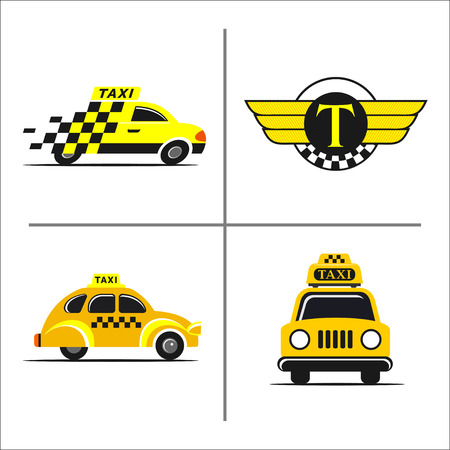 emblemas de taxi Vectores