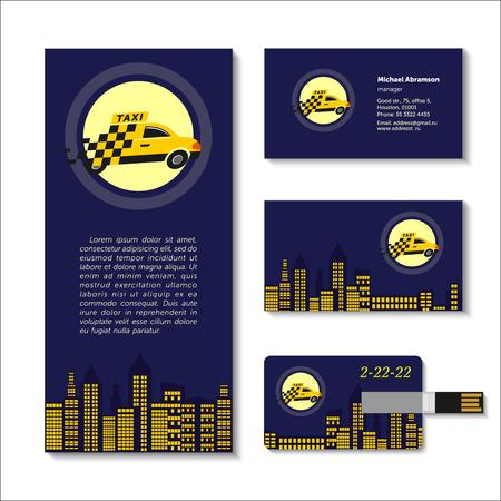 taxista: elementos de taxi Vectores