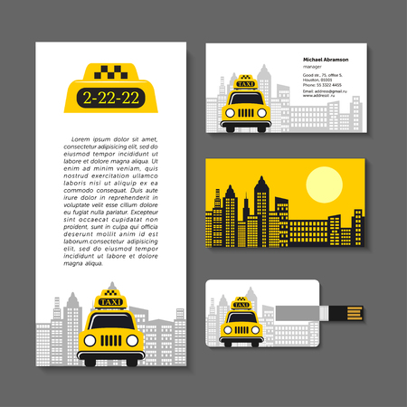 taxista: Taxi set of corporate identity elements