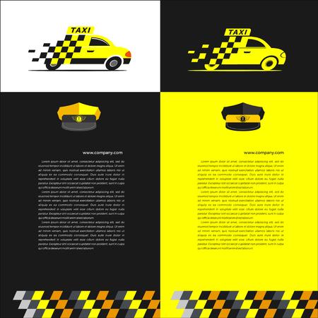 taxista: plantillas de conjunto de taxi