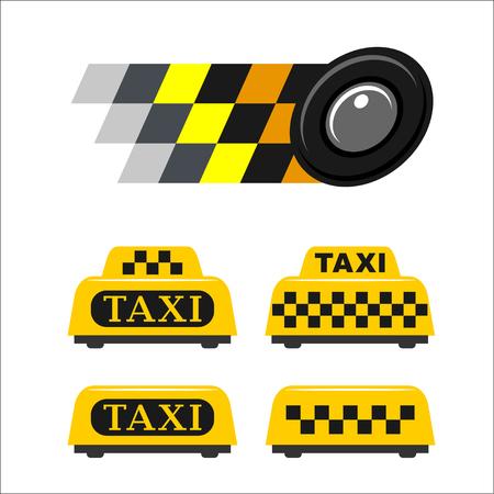taxista: Taxi conjunto de emblemas