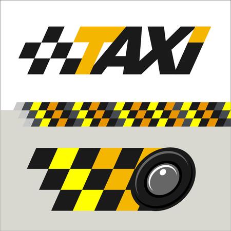 taxista: Taxi conjunto de signos emblemas