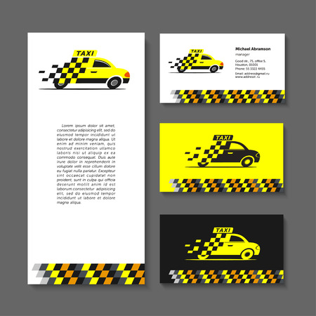 taxista: Taxi set elements of corporate style