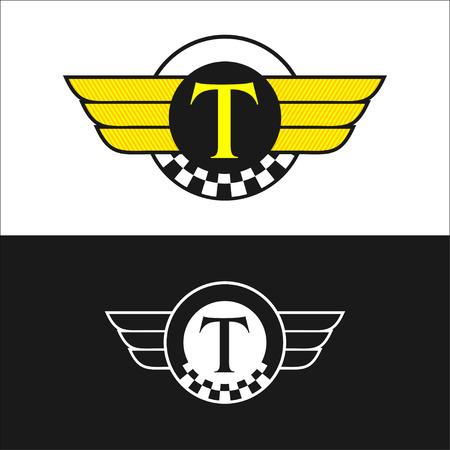 emblema de taxi. Ilustración de vector
