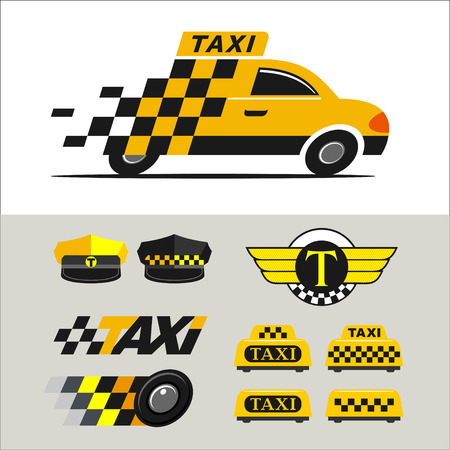 icons: Taxi icons Illustration