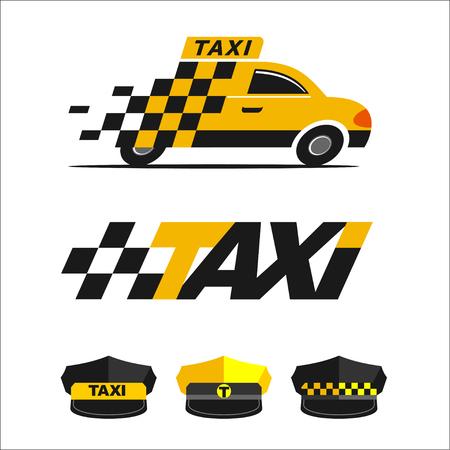 taxista: iconos de taxi Vectores