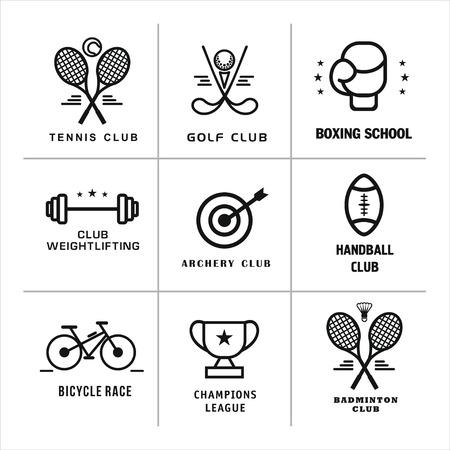 Sport. Vector logos, logos of different sports.