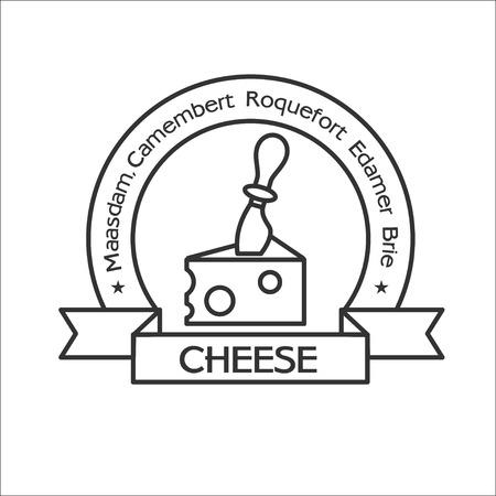 Icône pour le fromage, couteau à fromage, couteau à fromage, fromage logo, logo fromage, fromage, vecteur icône.