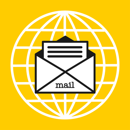 Letter. Mail. E-mail. Delivery of letters all over the world.