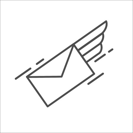 Mail. Letter. E-mail. Airmail. Vector icon.
