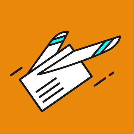 Mail. Letter. E-mail. Fast delivery of letters. Airmail. Vector icon