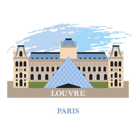 Paris. Vector illustration. Isolated on a white background. Illustration