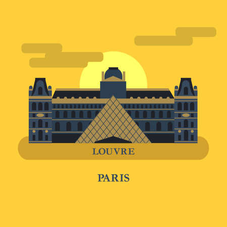The famous Palace in France. Vector illustration.