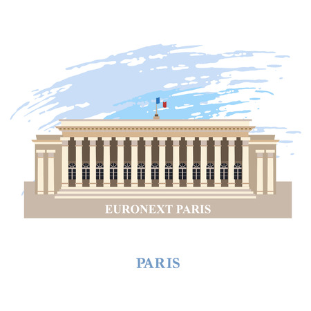 bourse: Euronext Paris . France. Vector illustration . Isolated on a white background.
