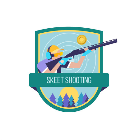 Shooting Skeet. The logo of the sports club.