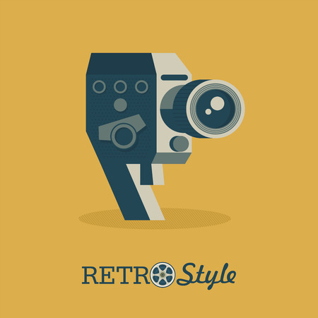 Vintage camera. Vector logo, illustration, logo.