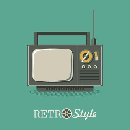 Illustration in retro style. Old TV. Vector illustration, logo, icon. Ilustrace