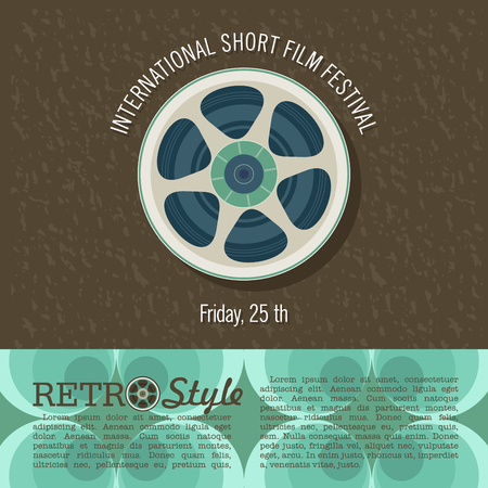 The film reel. Vector illustration. Poster. International short film festival.