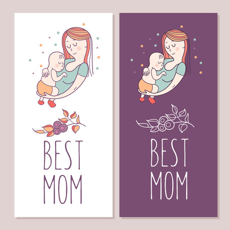 Greeting card mothers day the best mom a pretty mother holds greeting card mothers day the best mom a pretty mother holds cute baby m4hsunfo