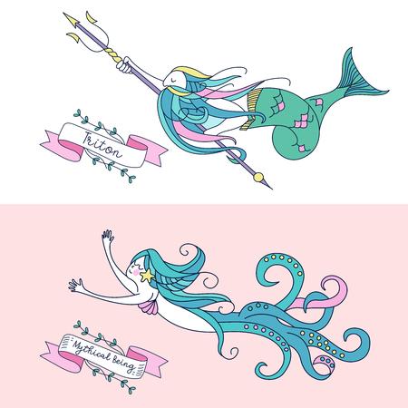Mythological creature vector illustration.