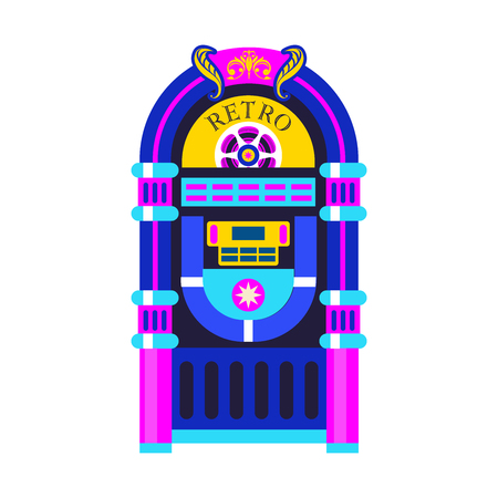 Retro music. An old jukebox. Vector illustration design.