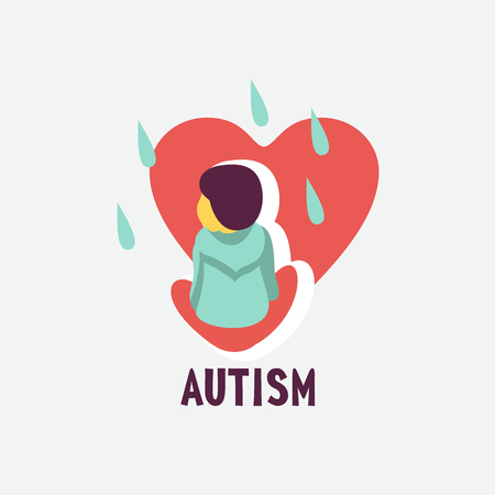 Autism. Early signs of autism syndrome in children. Children autism spectrum disorder ASD icon. Signs and symptoms of autism in a child.