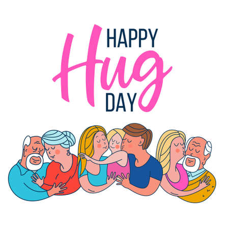 Happy hug day set.