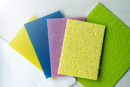 Colorful sponge for cleaning the premises