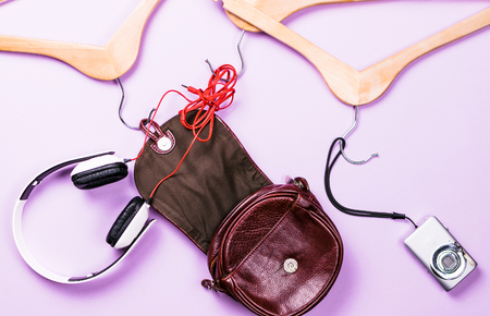 Womens clothing on a colored background