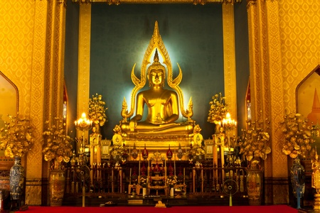 buddhist temple: beautiful color statue of a Buddhist of Thailand Stock Photo