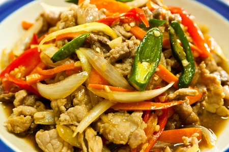 thai food is colorful, beautiful and diverse. photo
